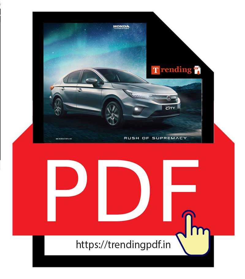 Download the PDF brochure for the all-new Honda City.