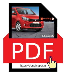 Download Brochure of Maruti Suzuki Celerio