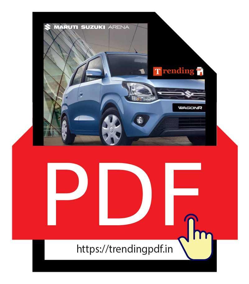 Download the Maruti Suzuki Wagon R Car Brochure 2021 in PDF format