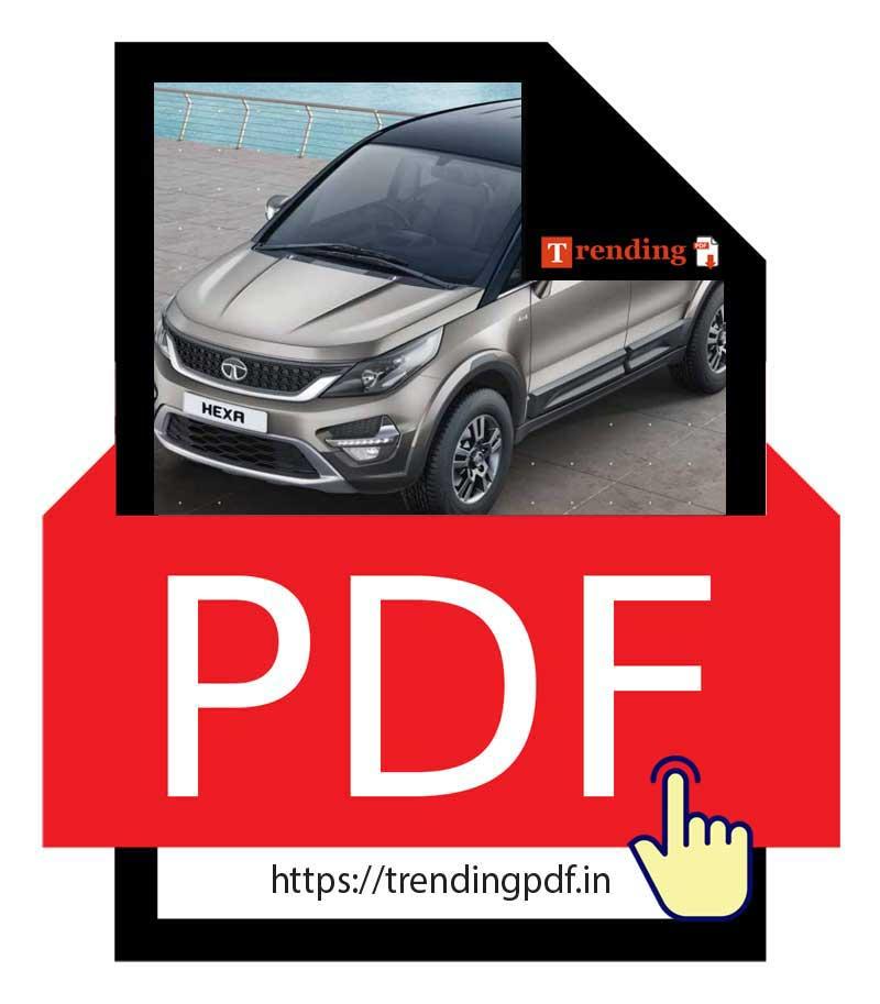 Download the Tata Hexa Car 2021 Brochure in PDF format