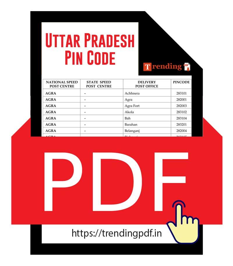 Download Uttar Pradesh UP District Pin Code latest list in PDF
