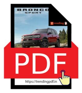 Download the Ford Bronco Car Brochure 2021 in PDF format