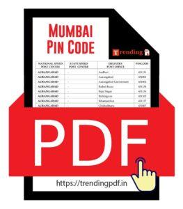 Maharashtra Mumbai District Pin Code latest list in PDF Download