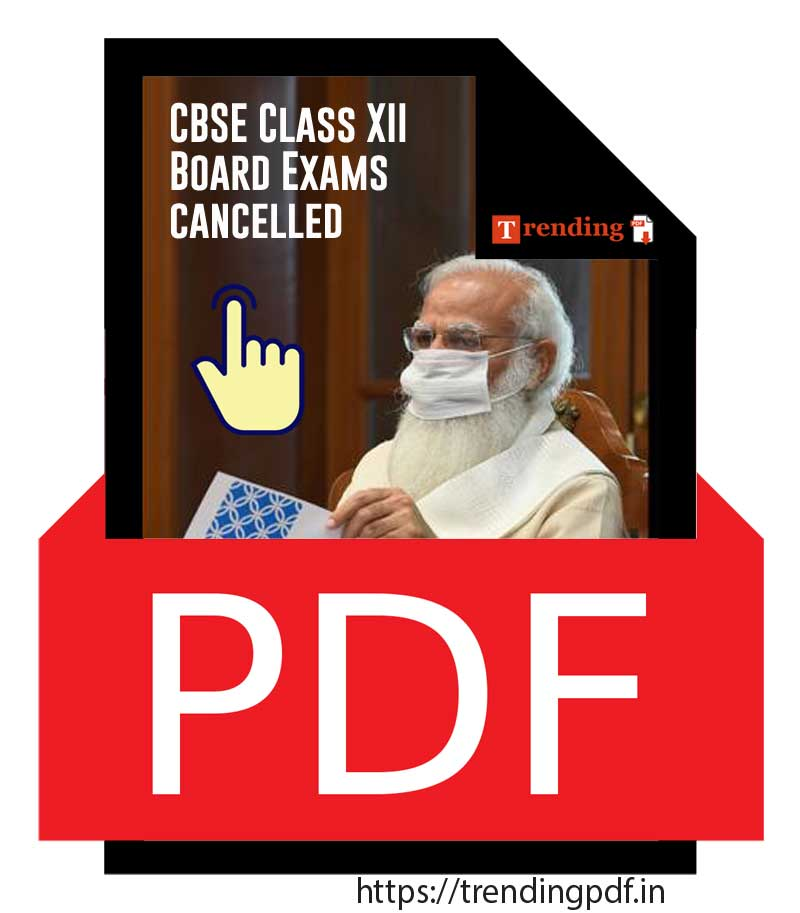 CBSE 12th Board Exams Cancelled 2021 PDF Download