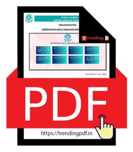 CBSE 12th Result 2021 on the basis of Class 10, 11, and 12 marks PDF Download