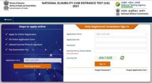 NEET 2021 Online Registration Form