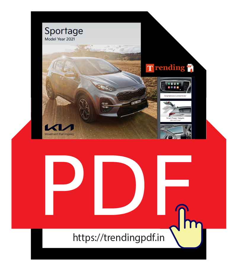 Kia Sportage Car Brochure PDF Download